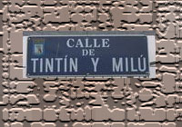 Calle de Tintín y Milú