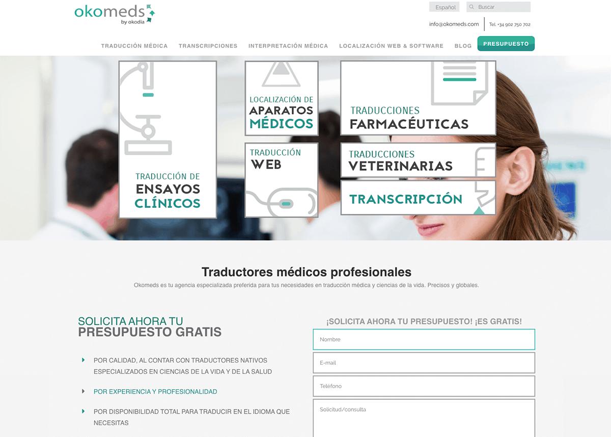 Okomeds, traducciones medicas