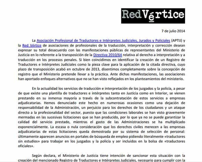 La polémica Directiva 2010/64/UE sobre traducción e interpretación