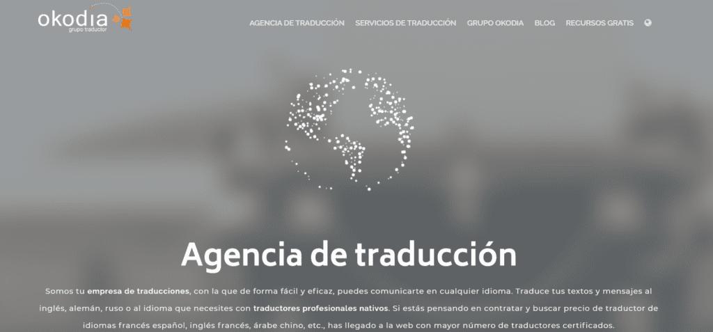 pagina web de okodia